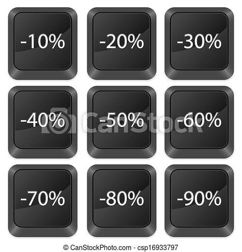 computer buttons deduction - csp16933797