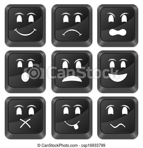 computer buttons emoticons - csp16933799