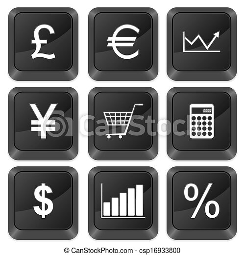 computer buttons finances - csp16933800