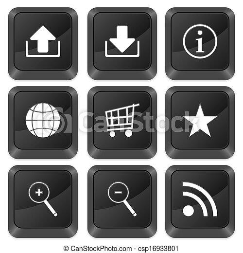 computer buttons internet symbol - csp16933801