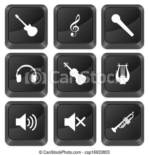 computer buttons music - csp16933803