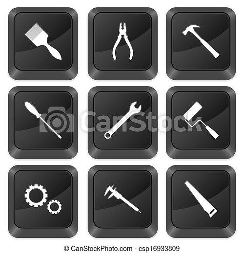computer buttons tools - csp16933809