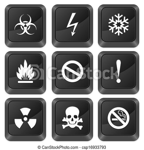 computer buttons warning sign - csp16933793
