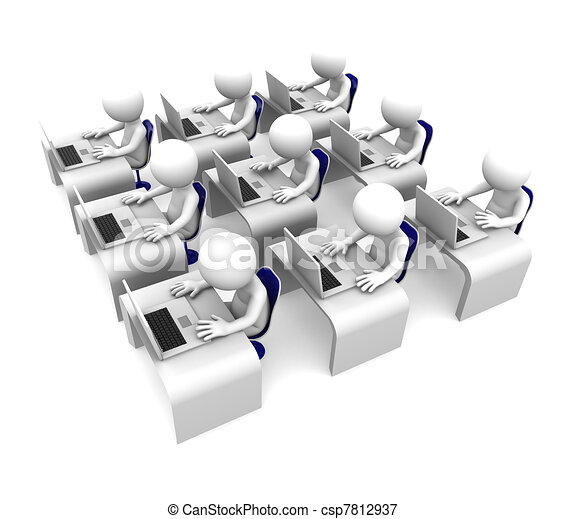 Computer class. Training\education concept - csp7812937