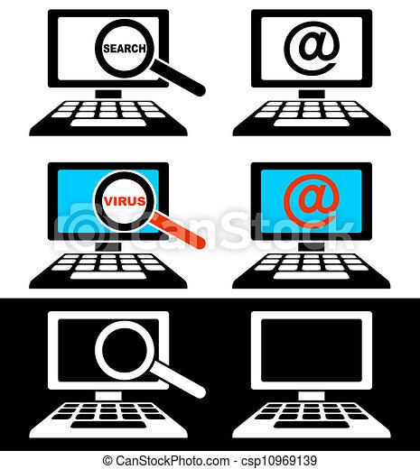 computer controlla, icone - csp10969139