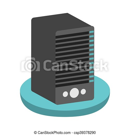 computer cpu server icon