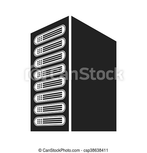 computer cpu server icon vector isolated graphic https www canstockphoto com computer cpu server icon 38638411 html