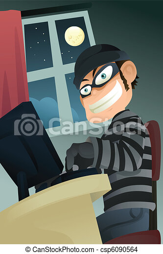 Computer criminal - csp6090564