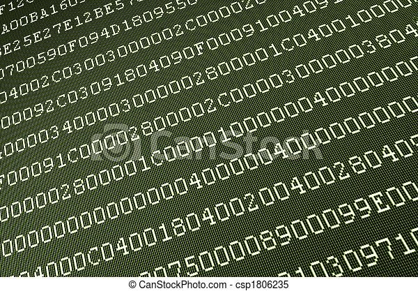 computer data on screen - csp1806235