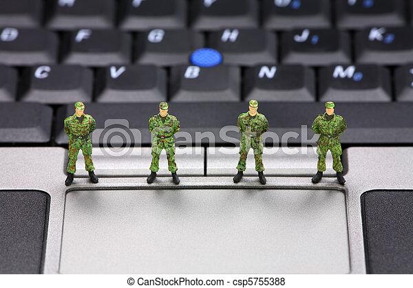 Computer data security concept - csp5755388