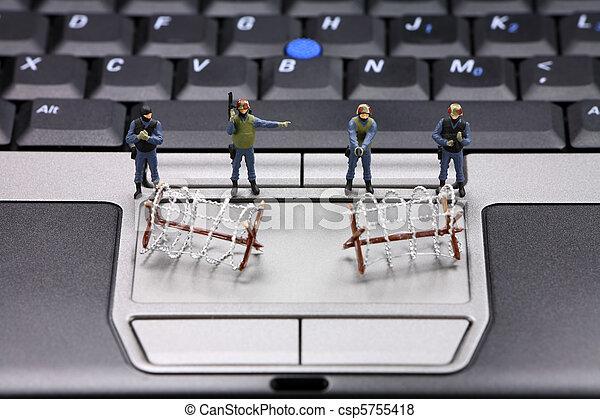 Computer data security concept - csp5755418