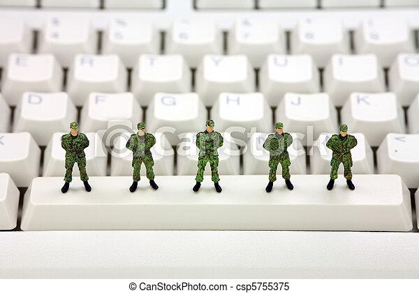 Computer data security concept - csp5755375