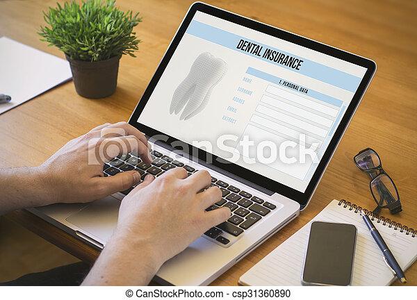computer desktop dental insurance - csp31360890