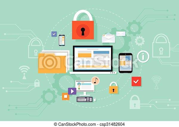 Computer Device Data Cloud Storage Security - csp31482604