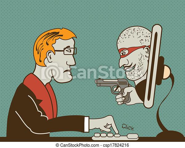 computer, dief - csp17824216
