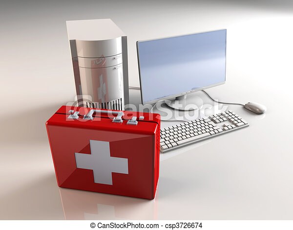 Computer First aid - csp3726674