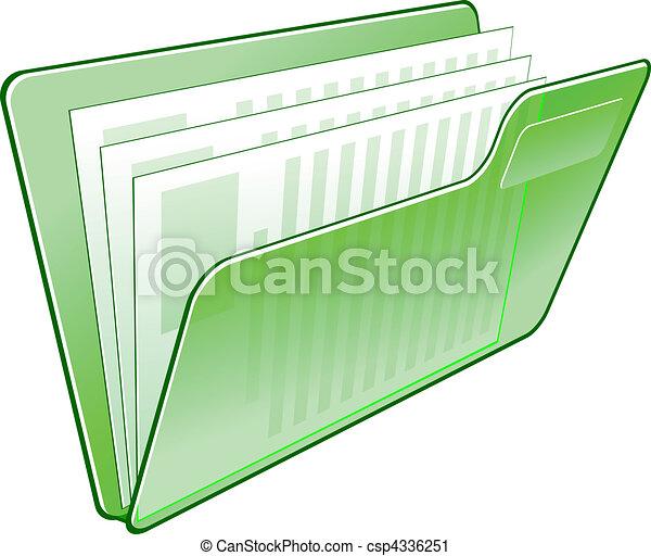 Computer folder icon - csp4336251