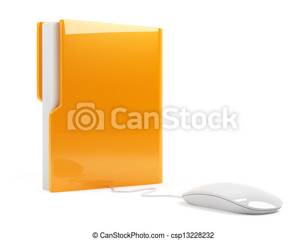 Computer folder with mouse - csp13228232