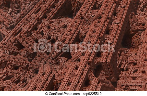 computer generated 3D abstract background - csp9225512
