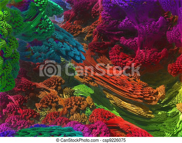 computer generated 3D abstract background - csp9226075