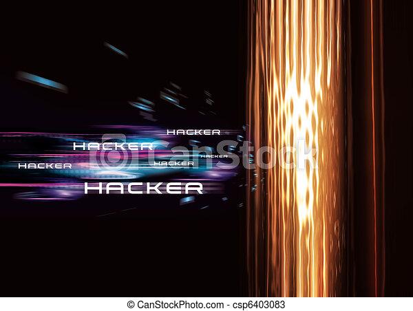 Computer Hacker - csp6403083