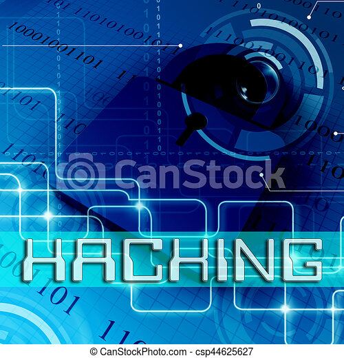 computer hacking indicating unauthorized threat 3d rendering