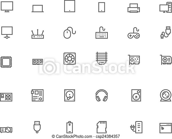 Computer icon set - csp24384357