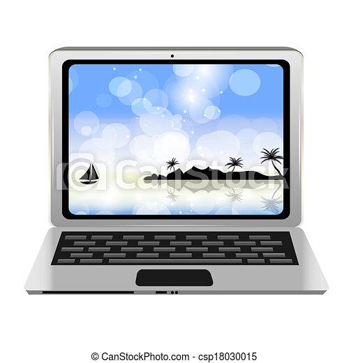 Computer icon vector illustration - csp18030015