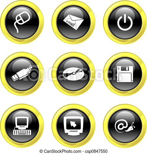 computer icons - csp0847550