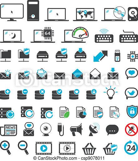 Computer icons set - csp9078011