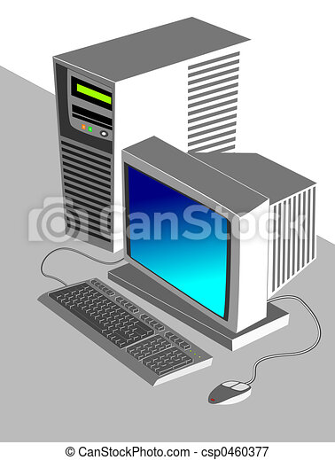 COMPUTER ILLUSTRATIO - csp0460377