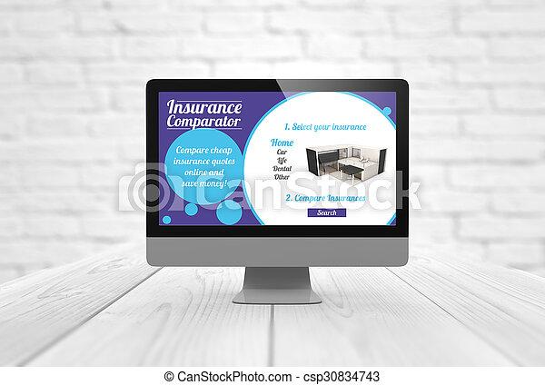 computer insurance - csp30834743