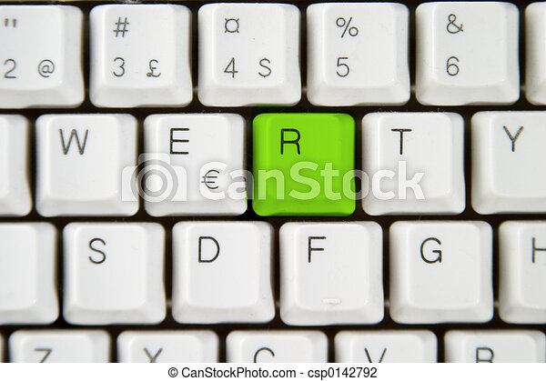 Computer Keyboard Letter R - csp0142792