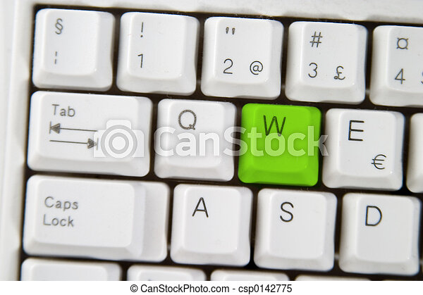 Computer Keyboard Letter W - csp0142775