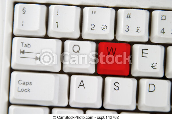 Computer Keyboard Letter W - csp0142782