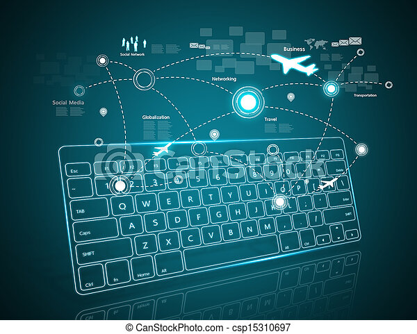 Computer Keyboard As Symbol Of High Technology Stock Photographs