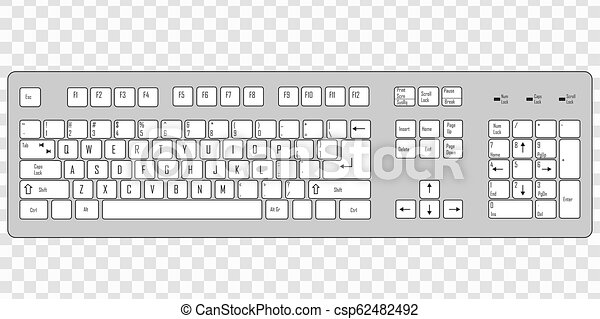 Computer Keyboard Template For Your Design Computer Keyboard Isolated On Transparent Background Template For Your