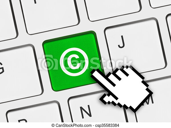 computer keyboard with copyright symbol business concept stock rh canstockphoto com computer keyboard clipart free computer keyboard clipart picture
