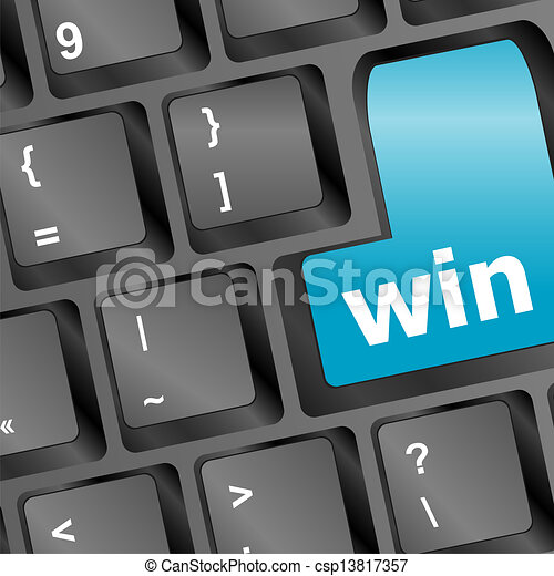 Computer keyboard with Win key - csp13817357
