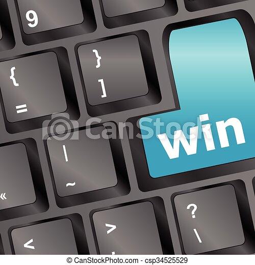 Computer keyboard with Win key vector illustration - csp34525529
