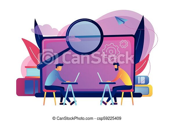 Computer Lab concept vector illustration