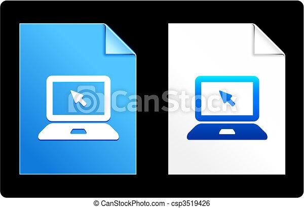 computer laptop on Paper Set - csp3519426