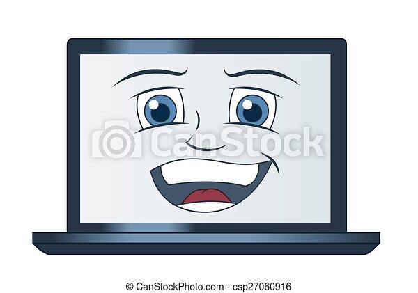 computer, laptop, smil - csp27060916