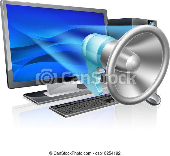 Computer megaphone concept - csp18254192
