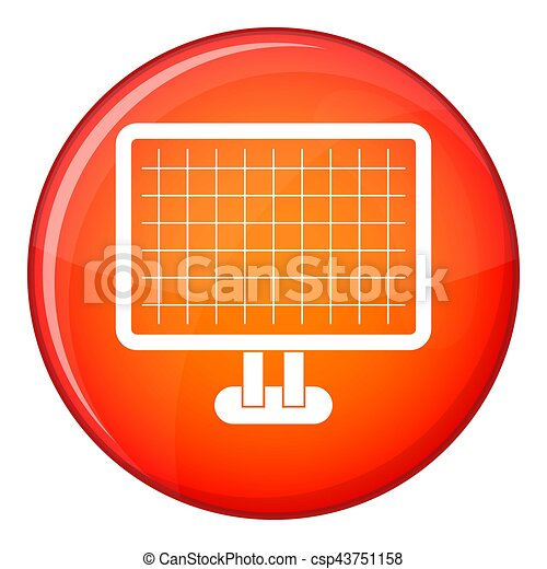 Computer monitor icon, flat style - csp43751158