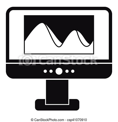 Computer monitor with photo on screen icon - csp41070910