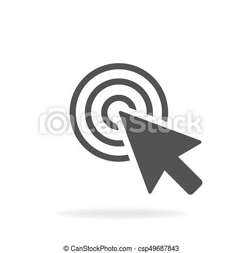 Computer mouse click cursor gray arrow icon. Vector illustration - csp49687843