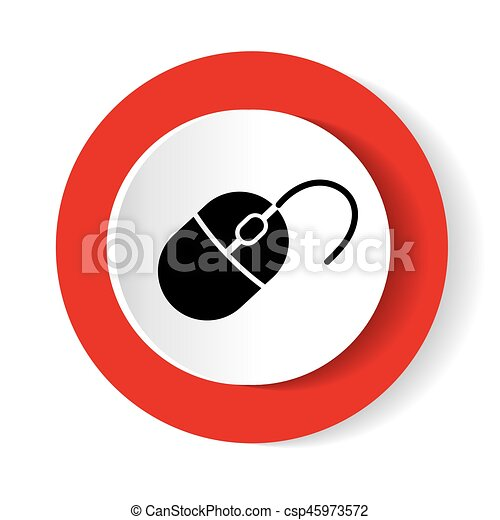 Computer mouse icon, vector illustration. - csp45973572