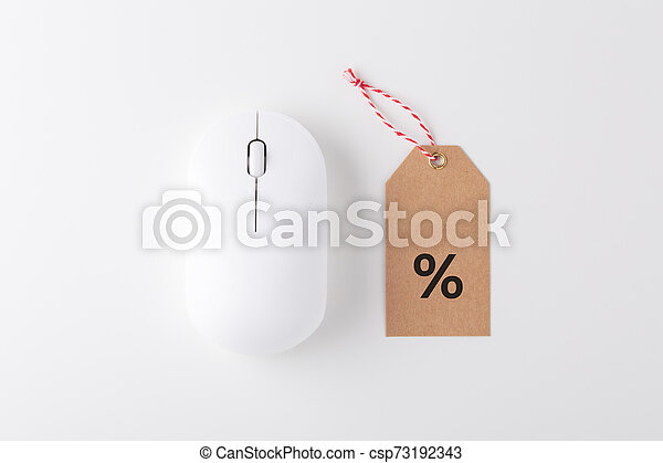 Computer mouse with sale tag - csp73192343