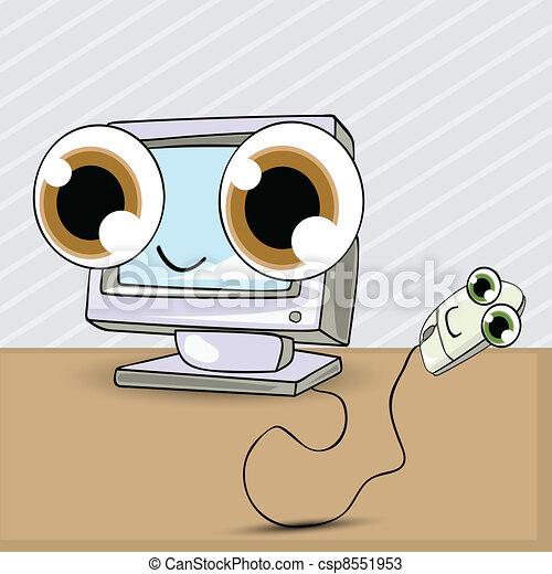computer mus, cartoon - csp8551953